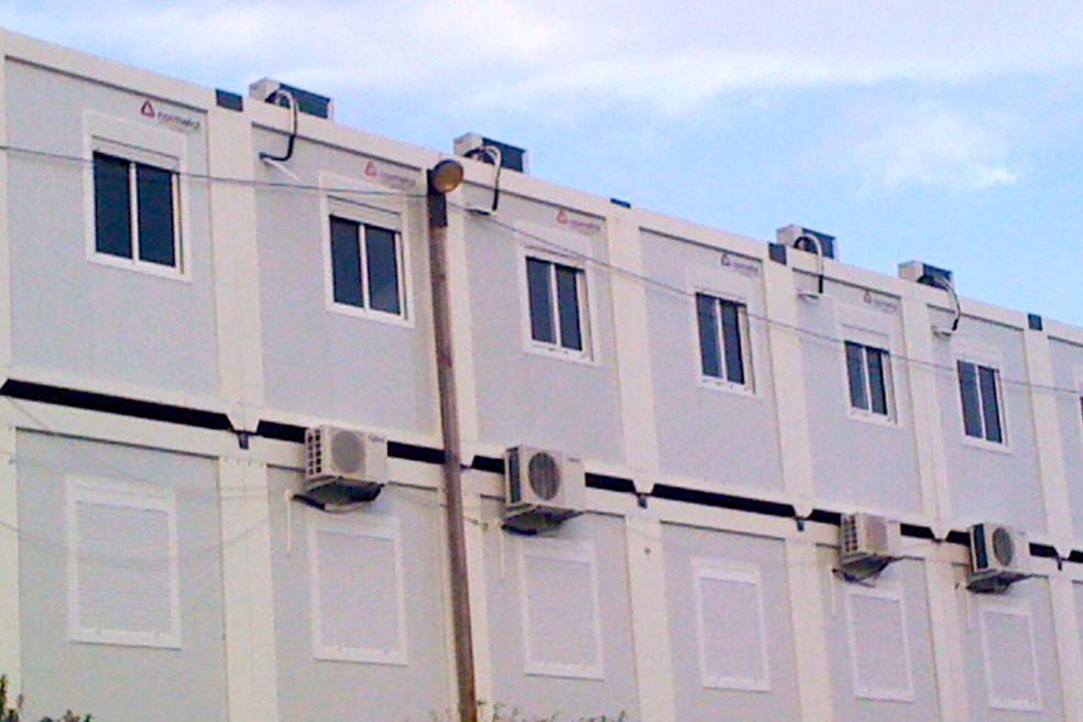 contentores com condensadores, aluguer de máquinas