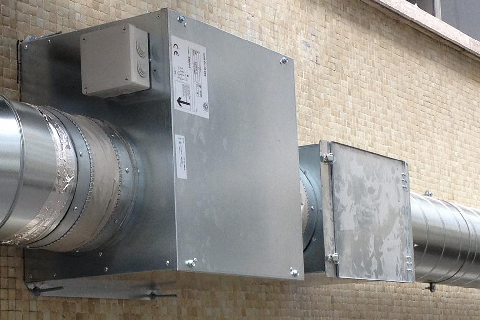 sistema de ventilação de ar novo